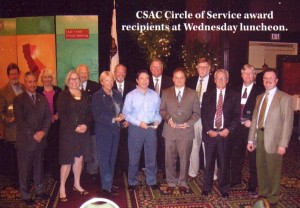 Diane and other statewide leaders receiving recognition - November 2008